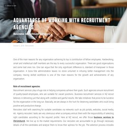 Advantages of working with recruitment agencies - NZ Recruit