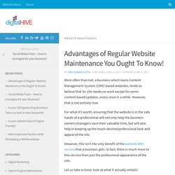 Advantages of Regular Website Maintenance You Ought To Know! - Digital Hive