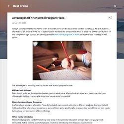 Advantages Of After School Program Plano