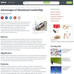 Advantages of Situational Leadership