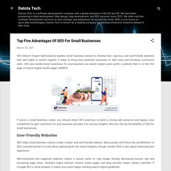 Top Five Advantages Of SEO For Small Businesses
