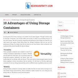 10 Advantages of Using Storage Containers