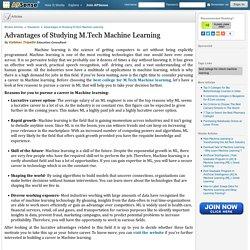 Advantages of Studying M.Tech Machine Learning by Vaibhav Tripathi