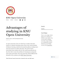 Advantages of studying in KNU Open University – KNU Open University