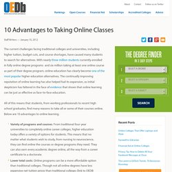 10 Advantages to Taking Online Classes