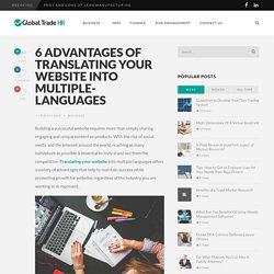 Advantages Of Translating Website Into Multiple Languages