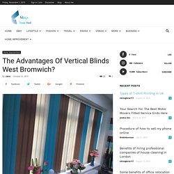 The Advantages Of Vertical Blinds West Bromwich?