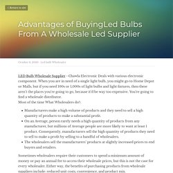 Advantages of BuyingLed Bulbs From A Wholesale Led Supplier  - Led bulb Wholesaler