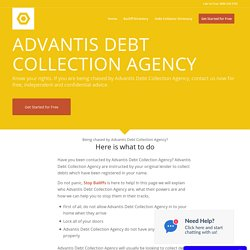 Want to Stop Advantis Debt Collection Agency? Free Debt Advice to Stop Debt Collectors Now