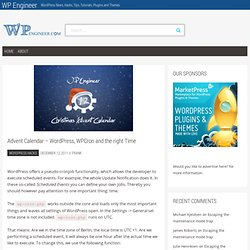 Advent Calendar – WordPress, WPCron and the right Time