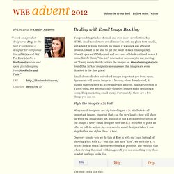 Web Advent 2012 / Dealing with Email Image Blocking