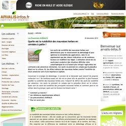 Effets de la densité des adventices sur le rendement des céréales à paille