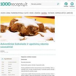 Adventiniai šokolado ir apelsinų skonio sausainiai - 1000receptu.lt