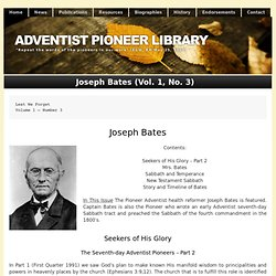 Joseph Bates (Vol. 1, No. 3)