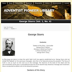 George Storrs (Vol. 1, No. 4)