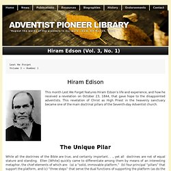 Hiram Edson (Vol. 3, No. 1)