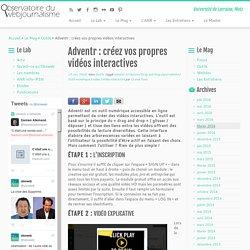 Adventr : créez vos propres vidéos interactives - Obsweb