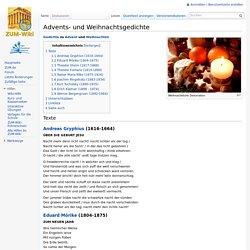 Advents- und Weihnachtsgedichte – ZUM-Wiki