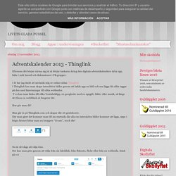 Adventskalender 2013 - Thinglink