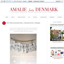 Amalie loves Denmark: DIY Adventskalender