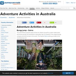 Adventure Activities in Australia - Gap Year