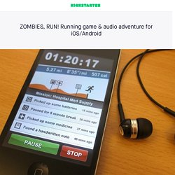 ZOMBIES, RUN! Running game & audio adventure for iOS/Android by Six to Start and Naomi Alderman
