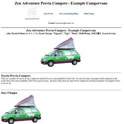 Zen Adventure Previa Campers Page - Example Campervans