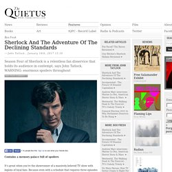 Sherlock And The Adventure Of The Declining Standards