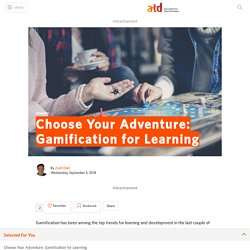 Choose Your Adventure: Gamification for Learning