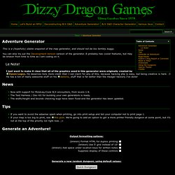Adventure Generator [Dizzy Dragon Games]