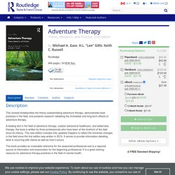 Adventure Therapy: Theory, Research, and Practice. (E-book).