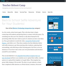 Back to School Selfie Adventure for Your Students!