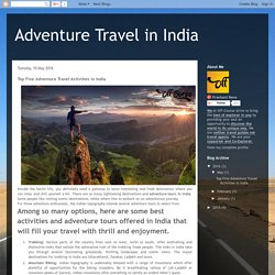Top Five Adventure Travel Activities in India