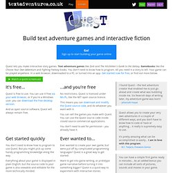Quest - Make text adventure games without programming