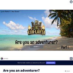 Are you an adventurer? About AUSTRALIA but not an EG