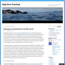 Adventures in Assessments: Life After Levels