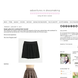 Simple gathered-to-waistband skirt tutorial!