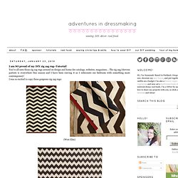I am SO proud of my DIY zig zag rug--Tutorial!