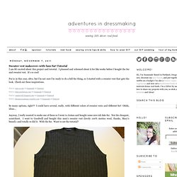 Sweater vest makeover
