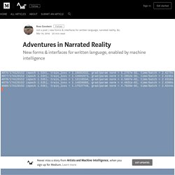 Adventures in Narrated Reality – Artists and Machine Intelligence