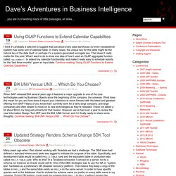 Dave's Adventures in Business Intelligence » Universe Design