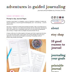 Adventures in Guided Journaling: Prompt-a-day Journal Pages