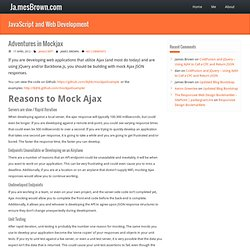 Adventures in Mockjax | Ja.mesBrown JavaScript and Web Development