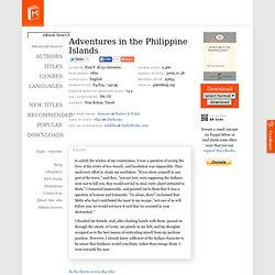 Adventures in the Philippine Islands by Paul P. de La Gironière