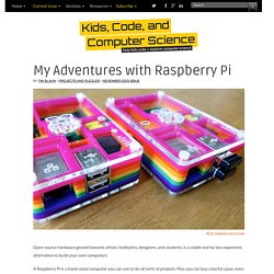 My Adventures with Raspberry Pi Projects