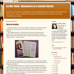 Let Me Think : Adventures in a School Library