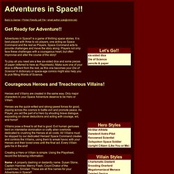 Adventures in Space!! - Roleplaying Game