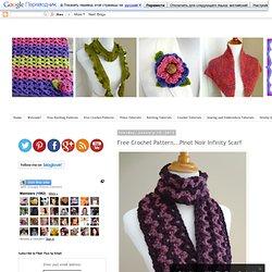 Free Crochet Pattern...Pinot Noir Infinity Scarf