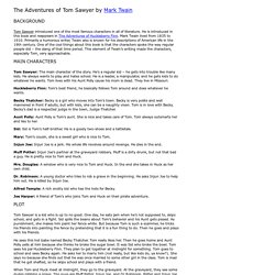 The Adventures of Tom Sawyer Summary - Schoolbytes
