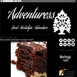 Favourite brownie recipe ever!